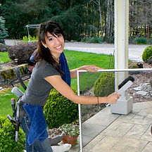 josie gould washing windows for bridge city