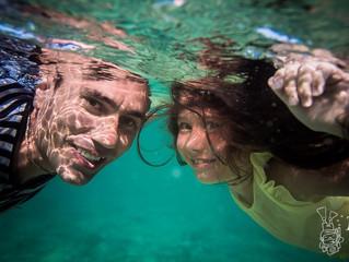 Семья в океане