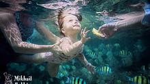 Подводные хитрости. Фотосессия с ребенком