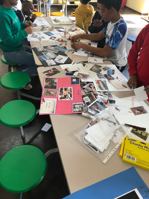 Vision boards making at Empowerment Brunch