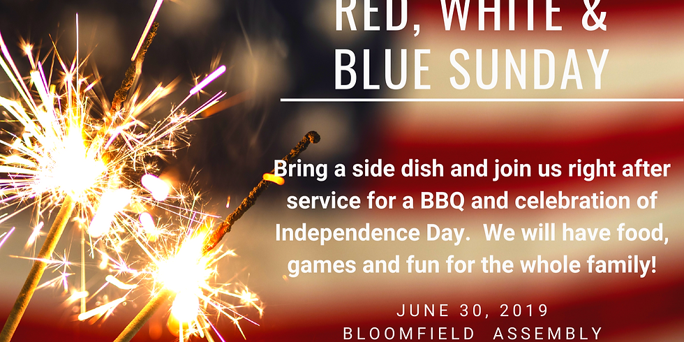 Red, White and Blue Sunday