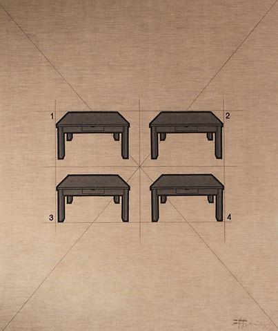 B183    - I tavoli 183B - 80x95 - 1974 -