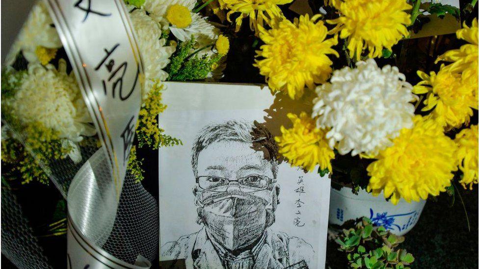 市民悼念李文亮醫生