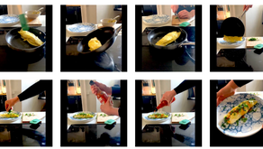 2 minute omelette in images