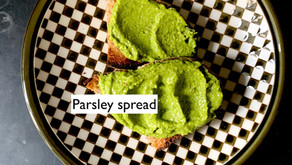 The parsley rescue spread, a distant Noma memory spin-off sauce