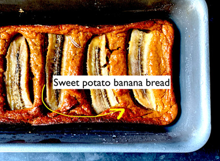 Banana bread - with sweet potato