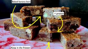 Eat Race Win - baked banana bars