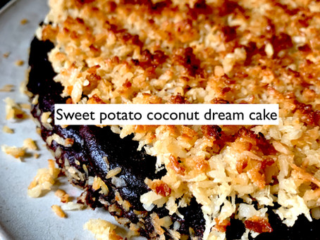 Sweet potato coconut dream cake