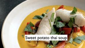 Sweet potato thai soup