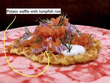 The waffle diet - potato blini waffle