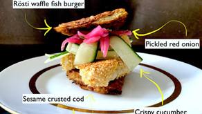 The rösti waffle -  fish burger