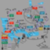 Torres del Paine Trail Map