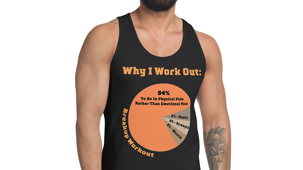Why I Work Out Tank-Top, Men's - Midnight Black