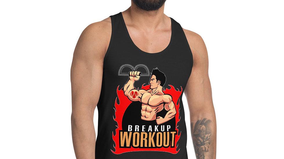 Breakup Workout Tank Top, Men's - Midnight Black