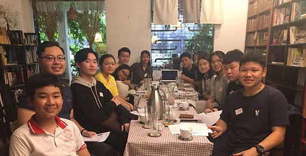 A photograph of a meeting of the Vietnam Ho Chi Minh City Youth Working Group