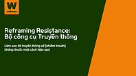 Link to and image of cover of Wellcome's Reframing Resistance Toolkit, Vietnamese language version