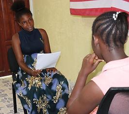 Photo of YAAR Kenya Youth Working Group members practicing peer to peer interviewing