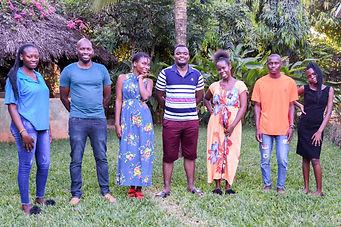 Photo of YAAR Kenya Youth Working Group members and facilitators (from left):Jacinta, AlexSerah, Emmanuel, Tumaini, Ellson and Joy