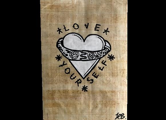 A4 Hand drawn flash -SELF LOVE