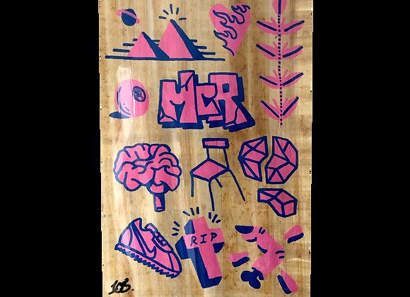 A4 Hand drawn flash - MCR