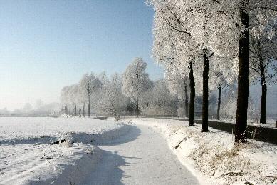 Weersterweg Denh Horn in de winter