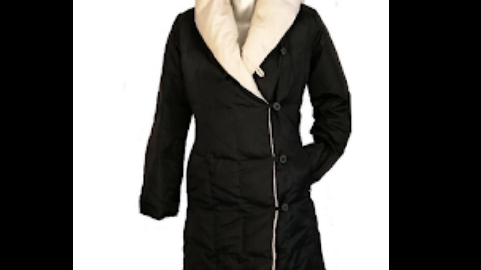 Abrigo doble cara Blanco y negro