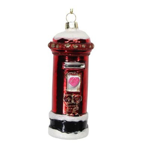 Red Letter Box Hanging Christmas Decoration