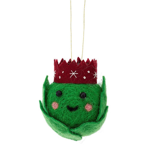Hanging Felt Brussel Sprout Christmas Decoration