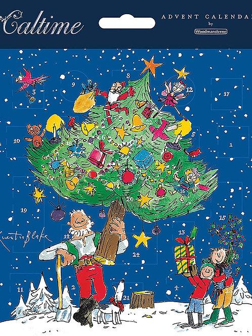 Decorating The Tree Advent Calendar Card