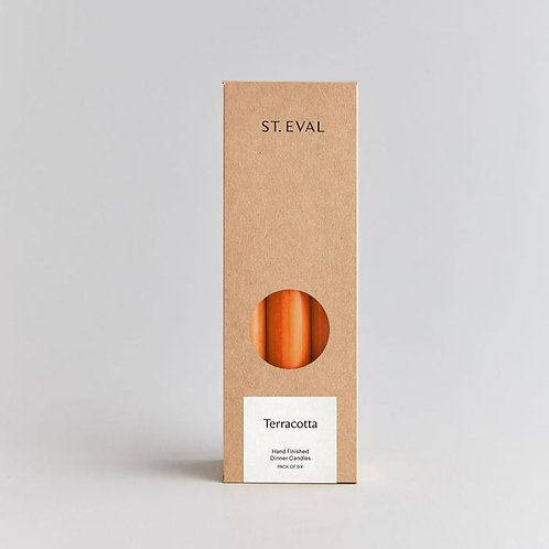 St Eval Dinner Candle Terracotta Pack of 6