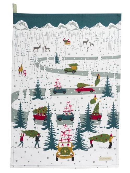 Sophie Allport Home For Christmas Tea Towel