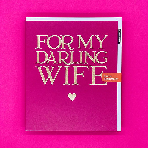Emma Bridgewater My Darling Wife Valentines Card
