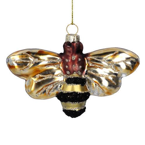 Glass Bee Christmas Decoration