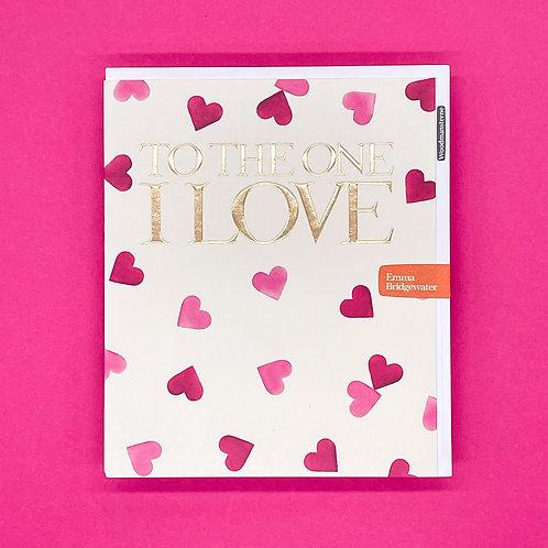Emma Bridgewater To The One I Love Valentines Card