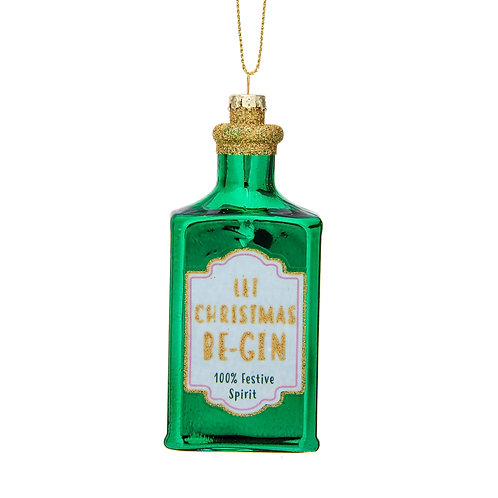 Let Christmas Be Gin Shaped Bauble