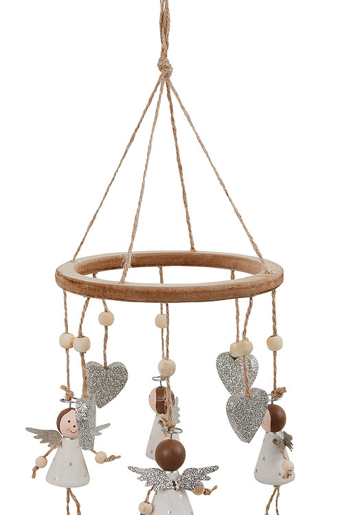 Wooden Angel Wind Chime Christmas Decoration