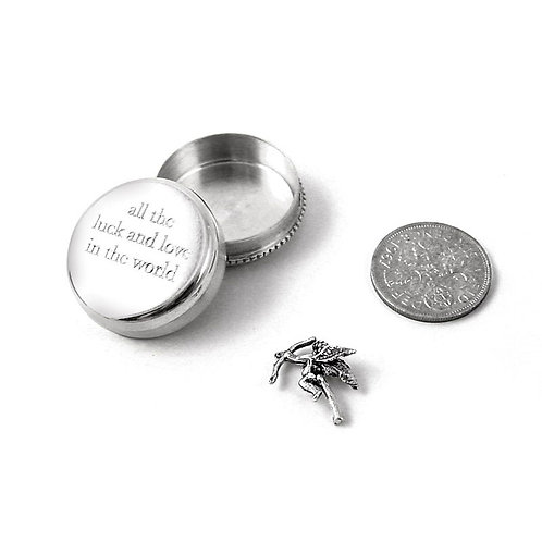 All The Luck And Love In The World Silver Keepsake Box