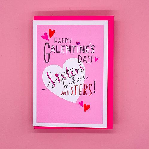 Happy Galentines Day Valentines Card