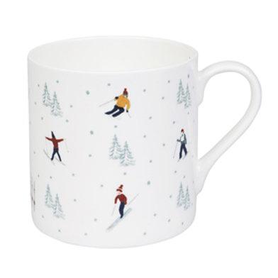 Sophie Allport Skiing Mug White