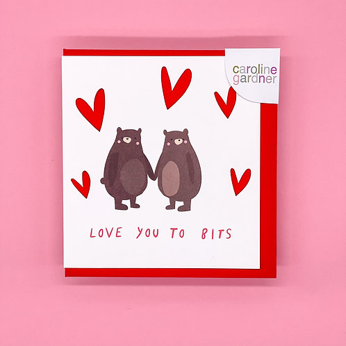 Love You to Bits Valentines Card