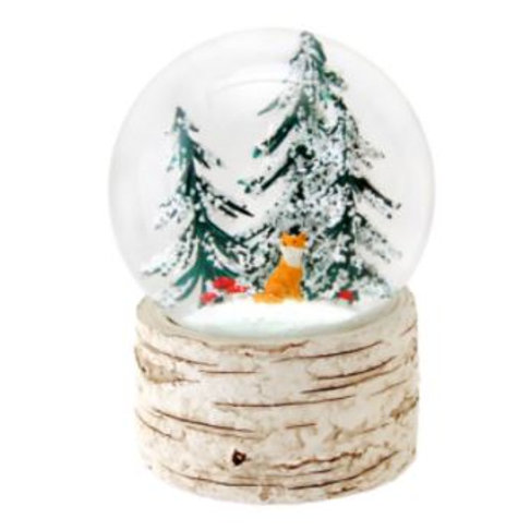 Fox In Woods Snow Globe Large