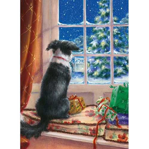 On the Windowsill Christmas Card Pack of 8