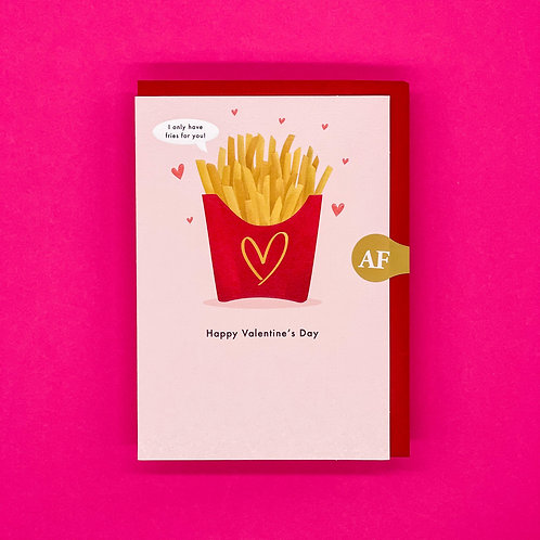 Fries For You Valentines Card