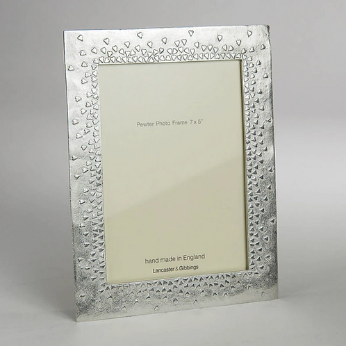 """Floating Hearts Pewter Photo Frame 7 X 5"""""""