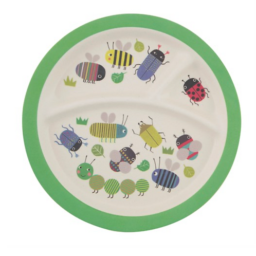 Busy Bugs Kids Bamboo Plate