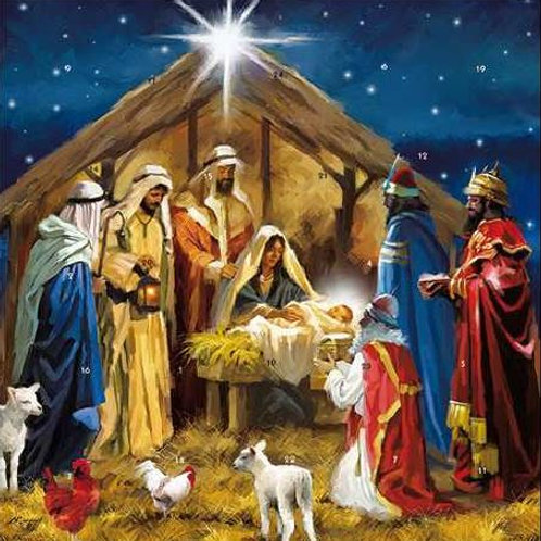 Small Nativity Scene Advent Calendar