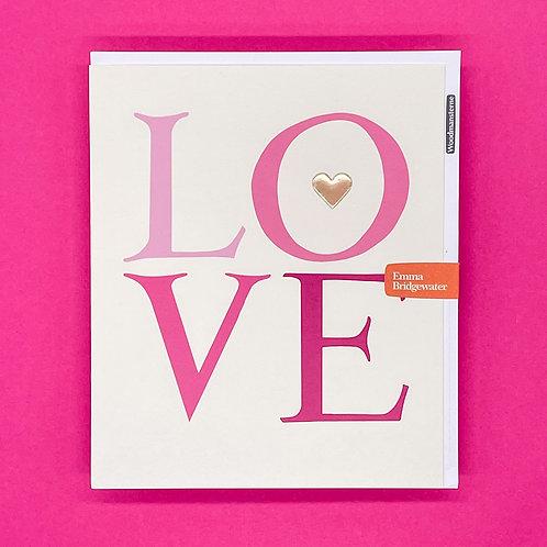 Emma Bridgewater Love Valentines Card