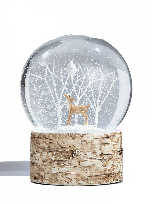 Deer And Bird Snow Globe Large