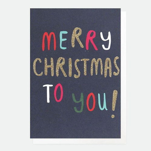 Merry Christmas Card Pack of 10