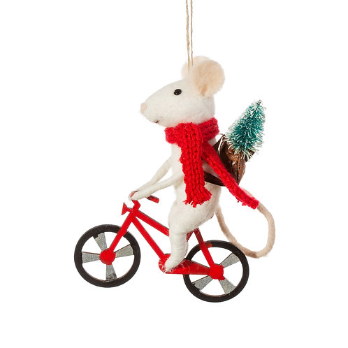Felt Delivery Mouse Hanging Christmas Decoration